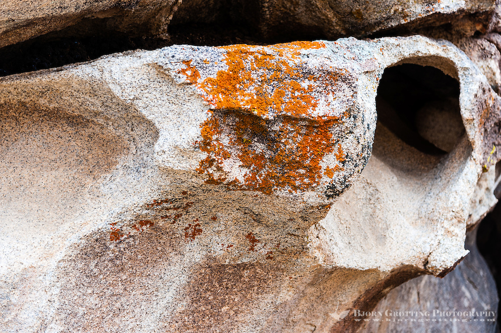 United States, California, Joshua Tree National Park. Hole in a rock, Hall of Horrors.