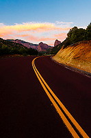 A road in Kolob Canyon, Zion National Park, Utah USA