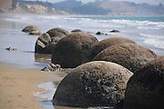 New Zealand, South Island, Otago, Koekohe Beach, Moeraki Boulders