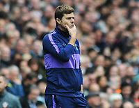 Football - 2019 / 2020 Premier League - Tottenham Hotspur vs. Southampton<br /> <br /> Tottenham Manager, Mauricio Pochettino in a thoughtful mood, at The Tottenham Hotspur Stadium.<br /> <br /> COLORSPORT/ANDREW COWIE