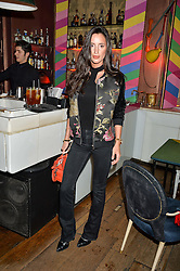 LILY FORTESCUE at a party to celebrate the launch of fashion retailer WeKoko.com held at Sketch, 9 Conduit Street, London on 13th April 2016.
