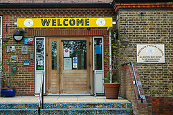"© Licensed to London News Pictures. 29/08/2020. London, UK. A ""WELCOME' sign at the entrance of Chestnuts Primary School in Tottenham, north London, as the school prepares for reopening next week, at the start of the new academic year. Photo credit: Dinendra Haria/LNP"