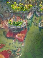 Aerial view of Kalogria lagoon Lagoon, Greece.