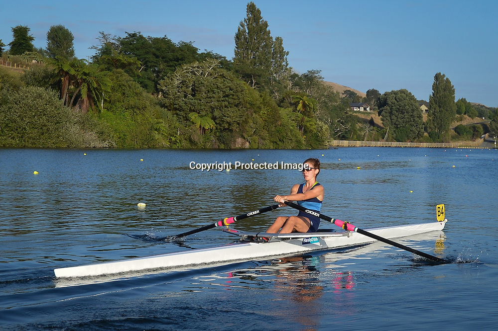 Halberg Awards nominee, Zoe McBride seen here competing in the 2014 Banklink Rowing Championships at Lake Karapiro, Zoe is a current member of the 2014-2015 Summer Squad and a Gold Medallist from the Under 23 World Champs in Italy in 2014
