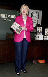Hillary Clinton makes an appearance at Barnes & Noble and signs books in support of her new memoir Hard Choices, in New York City, NY, USA, on June 10, 2014. Photo by Dennis Van Tine/ABACAPRESS.COM