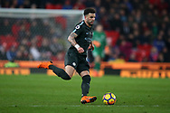 Kyle Walker of Manchester City in action. Premier league match, Stoke City v Manchester City at the Bet365 Stadium in Stoke on Trent, Staffs on Monday12th March 2018.<br /> pic by Andrew Orchard, Andrew Orchard sports photography.