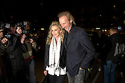 ANGIE AND MIKE RUTHERFORD, INTO THE HOODS - a hip hop dance musical -opening  at the Novello Theatre on The Aldwych. After- party at TAMARAI at 167 Drury Lane, London. 27 March 2008.   *** Local Caption *** -DO NOT ARCHIVE-© Copyright Photograph by Dafydd Jones. 248 Clapham Rd. London SW9 0PZ. Tel 0207 820 0771. www.dafjones.com.