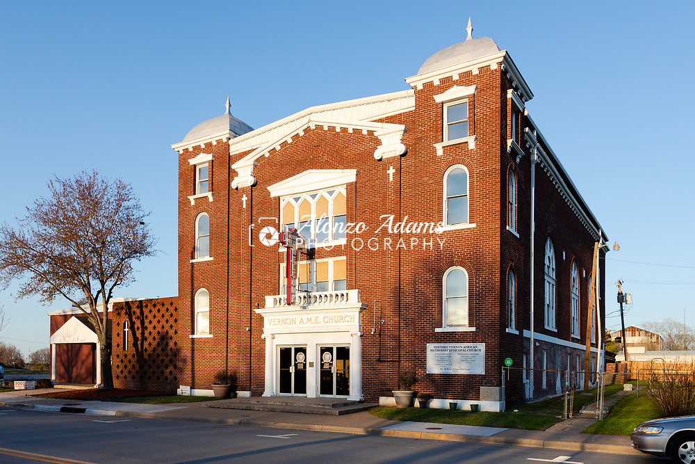 The historic Vernon AME Church is the only stading black-owned structure from the historic Black Wall Street era and the only building that remains from the Tulsa race massacre of 1921. Photo copyright © 2021 Alonzo J. Adams.