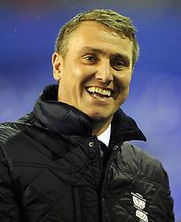 Birmingham City Manager, Lee Clark  - Photo mandatory by-line: Joe Meredith/JMP - Tel: Mobile: 07966 386802 14/01/2014 - SPORT - FOOTBALL - St Andrew's Stadium - Birmingham - Birmingham City v Bristol Rovers - FA Cup - Third Round