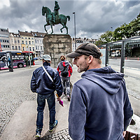 Duitsland, Aken, 10 augustus 2016.<br /> Reportage over verslaafden op Kaiserplatz in Aken. <br />  <br /> Reportage on drug addicts on Kaiserplatz in Aachen, Germany.<br /> <br /> Foto: Jean-Pierre Jans
