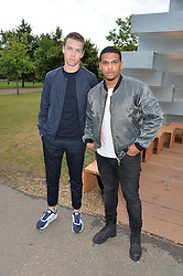 Left to right, Actors WILL POULTER and KOLA BOKINNI at a party hosted by fashion store COS to celebrate The Serpentine Park Nights 2016 held at The Serpentine Gallery, Kensington Gardens, London on 12th July 2016.