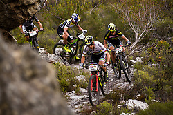 Nino Schurter of Scott SRAM MTB Racing leads during stage 1 of the 2017 Absa Cape Epic Mountain Bike stage race held from Hermanus High School in Hermanus, South Africa on the 20th March 2017<br /> <br /> Photo by Nick Muzik/Cape Epic/SPORTZPICS<br /> <br /> PLEASE ENSURE THE APPROPRIATE CREDIT IS GIVEN TO THE PHOTOGRAPHER AND SPORTZPICS ALONG WITH THE ABSA CAPE EPIC<br /> <br /> ace2016