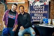 SHOT 12/10/17 12:46:51 PM - Former Buffalo Bills wide receiver and Hall of Fame player Andre Reed signs autographs and meets with fans at LoDo's Bar and Grill in Denver, Co. as the Buffalo Bills played the Indianapolis Colts that Sunday. Reed played wide receiver in the National Football League for 16 seasons, 15 with the Buffalo Bills and one with the Washington Redskins. (Photo by Marc Piscotty / © 2017)