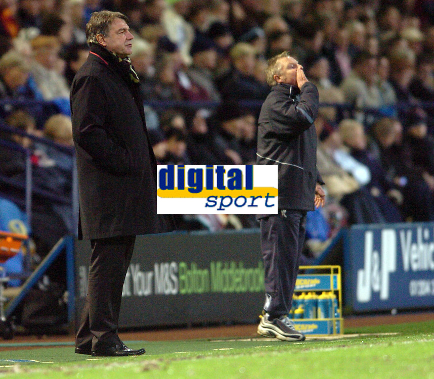 Photo: Paul Greenwood.<br />Bolton Wanderers v Portsmouth. The Barclays Premiership. 30/12/2006. Bolton Manager Sam Allardayce and assistant Sammy Lee
