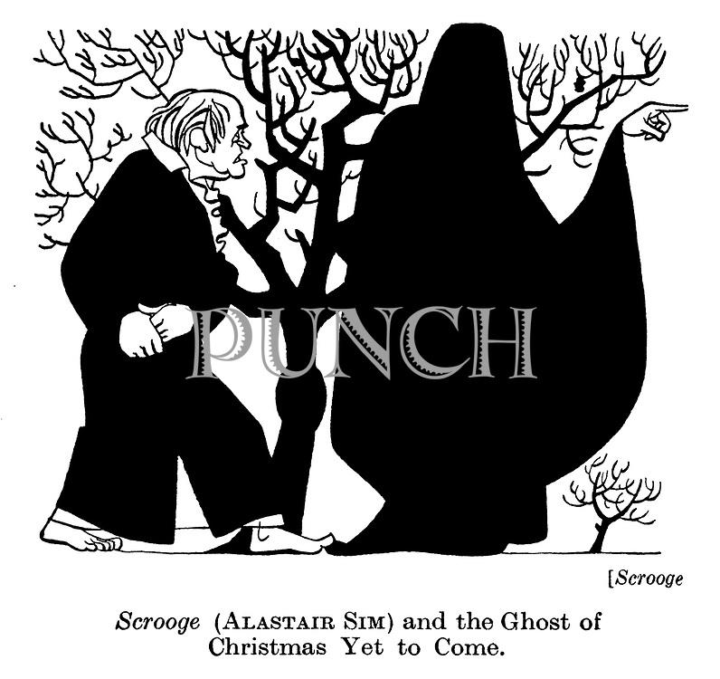 Scrooge : Alastair Sim and ghost