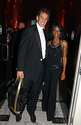 Singer SINITTA and her husband ANDY WILLNER at the Biba Ball in aid of Clic Sargeant held at the Victoria & Albert Museum, London on 11th May 2006.<br /><br />NON EXCLUSIVE - WORLD RIGHTS