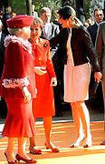 KONINGINNEDAG 2009 in Apeldoorn / Queensday 2009 in the city of Apeldoorn.<br /> <br /> Op de foto / On the Photo:<br />  Princes Margriet , Queen Beatrix and Maxima arrive at the Oranjepark in Apeldoorn.