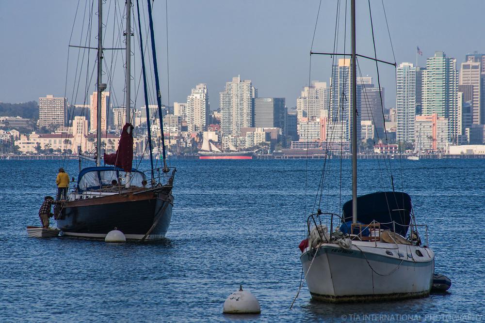 Boats on San Diego Bay