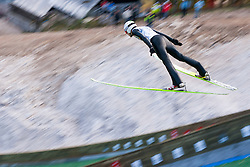 Jurij Tepes during Slovenian summer national championship and opening of the reconstructed Bloudek's hill in Planica on October 14, 2012 in Planica, Ratece, Slovenia. (Photo by Grega Valancic / Sportida)