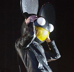 Joel Zimmerman, Deadmau5 headline Saturday night on the main stage..Saturday at Rockness 2012..©Michael Schofield..