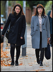 Italian sisters Elisabetta (left) and Francesca Grillo (right, Grey Coat)arrive at Isleworth Crown Court,<br /> The TV Chef Nigella Lawson will today give evidence at Isleworth Crown Court. London, United Kingdom. Thursday, 5th December 2013. The TV chef is expected to give evidence today at the trial for Francesca and Elisabetta Grillo, who appear charged with fraud after allegedly using a company credit card to defraud the TV chef and her former husband out of £300,000. Picture by Andrew Parsons / i-ImagesFile Photo  - Nigella Lawson and Charles Saatchi PAs cleared of fraud. The trial of Francesca Grillo, 35, and sister Elisabetta, 41, heard they spent £685,000 on credit cards owned by the TV cook and ex-husband Charles Saatchi.<br /> Photo filed Monday 23rd December 2013