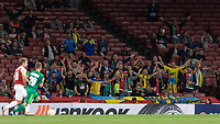 Football - 2018 / 2019 UEFA Europa League - Group E: Arsenal vs. Vorskla Poltava<br /> <br /> The small group of travelling supporters from Vorskla Poltava cheer on their team at The Emirates.<br /> <br /> COLORSPORT/DANIEL BEARHAM