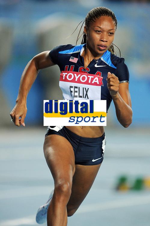 ATHLETICS - IAAF WORLD CHAMPIONSHIPS 2011 - DAEGU (KOR) - DAY 1 - 27/08/2011 - PHOTO : STEPHANE KEMPINAIRE / KMSP / DPPI - <br /> 400 M - WOMEN - HEAT - ALLYSON FELIX (USA)