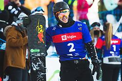 Dmitry Loginov (RSF) during parallel slalom FIS Snowboard Alpine World Championships 2021 on March 2nd 2021 on Rogla, Slovenia. Photo by Grega Valancic / Sportida
