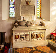 Tomb of Sir John Seymour d 1590 father of Queen Jane Seymour, Great Bedwyn church, Wiltshire, England, UK