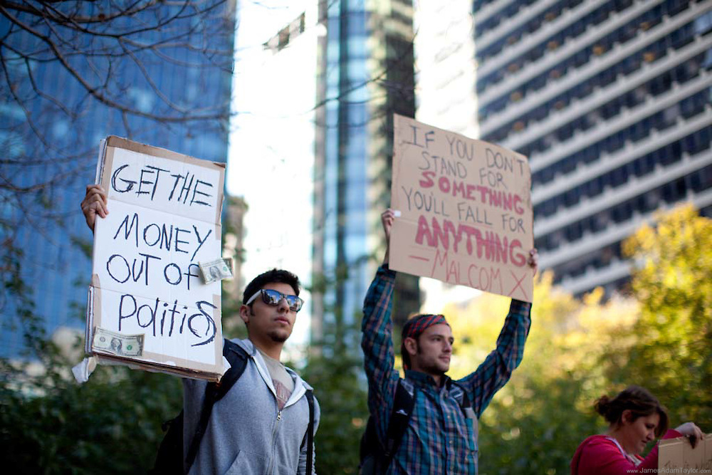99% demonstrators, City Hall, Philadelphia, PA
