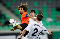 Nathan Ake of Netherlands during the UEFA European Under-17 Championship Semifinal match between Netherlands and Georgia on May 13, 2012 in SRC Stozice, Ljubljana, Slovenia. Netherlands defeated Georgia 2-0. (Photo by Vid Ponikvar / Sportida.com)