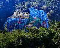 Mural de la Prehistoria (Mural of Prehistory) in Dos Hermanas Valley. At first I wondered if this was large scale graffiti or art. Image taken with a Leica T camera and 18-55 mm lens (ISO 100, 48 mm, f/14, 1/60 sec).