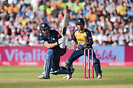 Daryn Smit of Derbyshire Falcons batting during the Vitality T20 Finals Day 2019 match between Derbyshire Falcons and Essex Eagles at Edgbaston, Birmingham, United Kingdom on 21 September 2019.