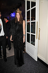 FRAN HICKMAN at Quintessentially's 10th birthday party held at The Savoy Hotel, London on 13th December 2010.