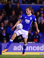 Maikel Kieftenbeld of Birmingham city in action .EFL Skybet championship match, Birmingham city v Cardiff city at St.Andrew's stadium in Birmingham, the Midlands on Friday 13th October 2017.<br /> pic by Bradley Collyer, Andrew Orchard sports photography.