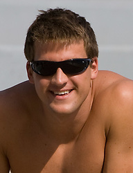 Jernej Godec at practice of Slovenian swimmers before World Championships in Rome, on July 23 2009, in Kranj, Slovenia. (Photo by Vid Ponikvar / Sportida)