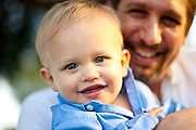 Cute Baby Boy and Happy Father
