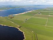 Nederland, Friesland, Gemeente Sudwest-Fryslan (Zuidwest-Friesland), 16-04-2012. 'It Lege Midden' (het lage midden). Groote Noordwolderpolder. Veenveenpolder, is drooggemaakt na het vervenen. Het meer links is de Fluezen (Fluessen)..Typical Frisian countryside: lakes, sparse farms in the polders, meadows..luchtfoto (toeslag), aerial photo (additional fee required);.copyright foto/photo Siebe Swart