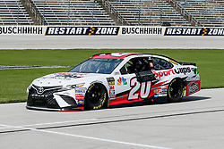 November 2, 2018 - Fort Worth, TX, U.S. - FORT WORTH, TX - NOVEMBER 02: Monster Energy NASCAR Cup Series driver Erik Jones (20) drives down pit row during practice for the AAA Texas 500 on November 02, 2018 at the Texas Motor Speedway in Fort Worth, Texas. (Photo by Matthew Pearce/Icon Sportswire) (Credit Image: © Matthew Pearce/Icon SMI via ZUMA Press)