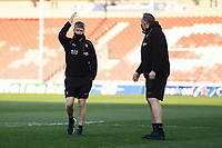 Rugby Union - 2020 / 2021 European Rugby Heineken Champions Cup - Round of 16 - Gloucester vs La Rochelle - Kingsholm<br /> <br /> La Rochelle's head coach Ronan O'Gara with Director of Rugby Jon Gibbes.<br /> <br /> COLORSPORT/ASHLEY WESTERN