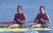 Barcelona, SPAIN. NED M2X Bronze Medalist, stroke, Nico RIENKS , Henk Jan ZWOLLE. 1992 Olympic Rowing Regatta Lake Banyoles, Catalonia [Mandatory Credit Peter Spurrier/ Intersport Images]