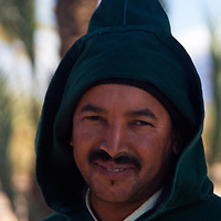Africa, Morocco, Skoura. Local Berber villager near Skoura.