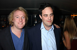 Left to right, ROB HUNTINGTON and LORD BUCKHURST at the launch of a new bar Bardo, 101-105 Walton Street, London SW3 on 29th November 2005.<br />