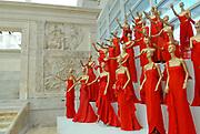 """Rome, 06.07.2007. Exposition """"Valentino a Roma - 45 anni di stile"""",  at the Ara Pacis"""