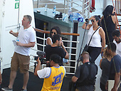 EXCLUSIVE Actress Shay Mitchell rock climbing on board the Carribbean at Sea