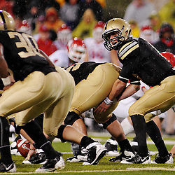 Oct 23, 2009; West Point, N.Y., USA; Army quarterback Trent Steelman (8) sets up under center during Rutgers' 27 - 10 victory over Army at Michie Stadium.