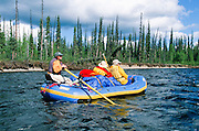 Alaska. Yukon Charley Rivers National Preserve. Eco tour rafting trip.