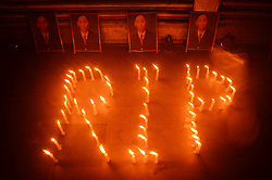 June 11, 2017 - Dimapur, India - Supporters of National Socialist Council of Nagaland-Khaplang (NSCN-K) paid a candle light vigil for its Chairman SS Khaplang at Dimapur, India north eastern state of Nagaland on Sunday, June 11, 2017. Chairman of the NSCN-K, who broke its ceasefire agreement with Indian Government on September 2015 passes away on June 09 in Myanmar. NSCN-K are fighting for a sovereign Naga, who resides in Indian north eastern state of Nagaland, Manipur, Assam, Arunachal Pradesh and to Myanmar. (Credit Image: © Caisii Mao/NurPhoto via ZUMA Press)