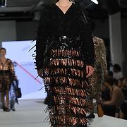 Designer Mojadesola Ayemobola the Best of Graduate Fashion Week showcases at the Graduate Fashion Week 2018, June 6 2018 at Truman Brewery, London, UK.