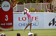 18 APR15 Chella Choi during Saturday's Final Round of The LOTTE Championship at The Ko Olina Golf Club in Kapolei, Hawaii. (photo credit : kenneth e. dennis/kendennisphoto.com)